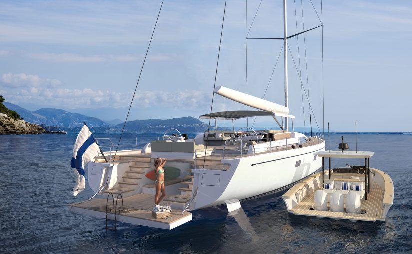 Motorbåt från Nautor's Swan
