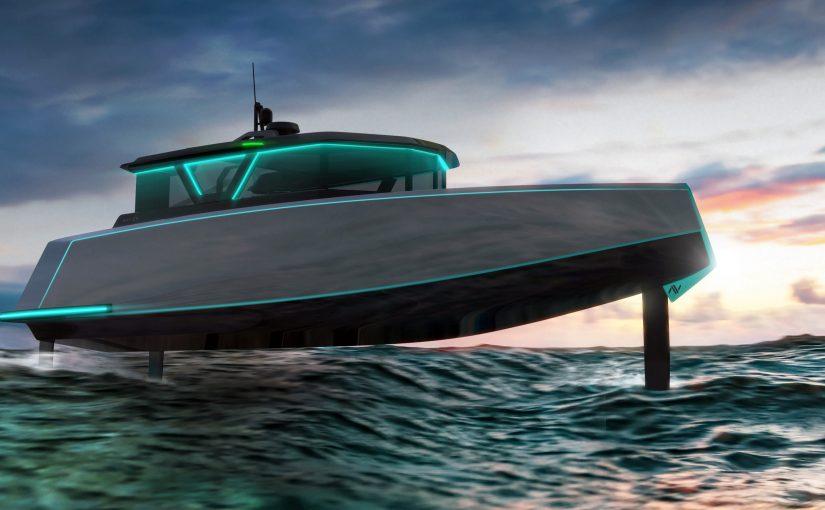 Avancerad elbåt med bärplan från Silicon Valley