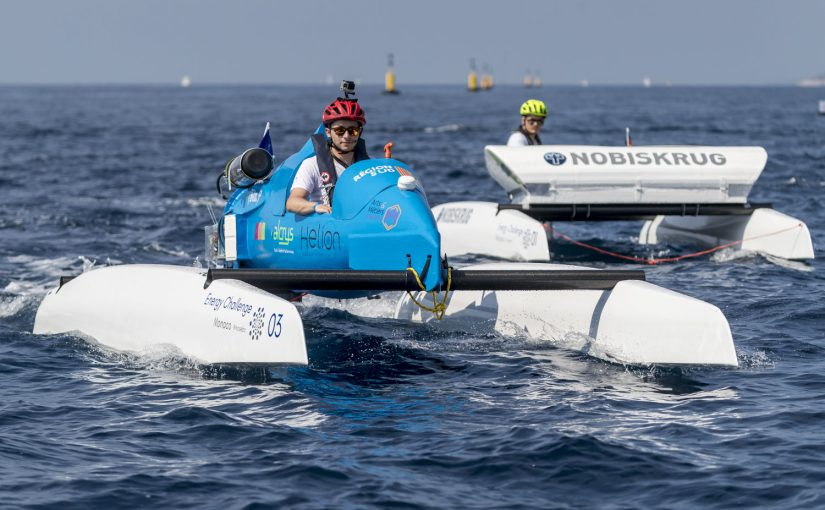 Race med elbåtar i Monaco
