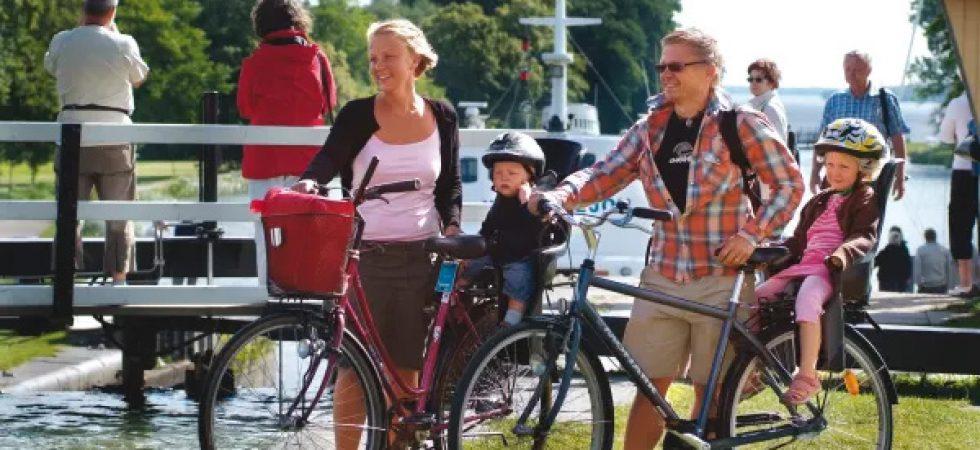 Äventyrliga cykelleder längs Göta kanal