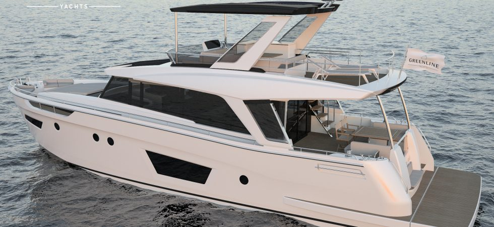 18 m flybridgebåt med hybriddrift
